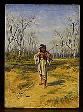Franciszek Streitt (1839 -1890). A Small Oil on Ma