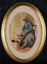 Two Small 19th Century Watercolours: A fisherman s