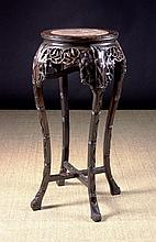 A Fine Late 19th Century Chinese Carved Hardwood S