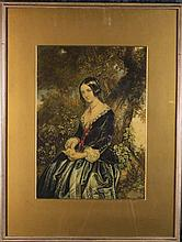 A Collection of Ten Framed Engravings: A Baxter Pr