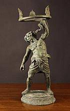 A 19th Century Neo-classical Verdigris Bronze Figu