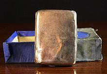 A Silver Cigarette Case hallmarked Chester 1915, e