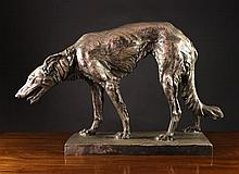 Jos. Korscheon. A Large Silver Patinated Bronze Sc