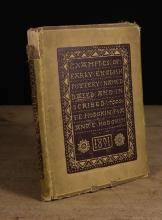 A Signed Limited Edition Book 'Examples of Early English Pottery Named, Dated and Inscribed' by John Eliot Hodgkin F.S.A. and Edith Hodgkin, published London 1891 (A/F).