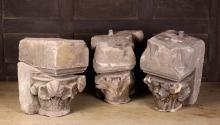 Three Pieces of Decorative Stonework.