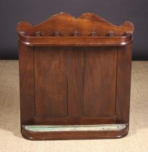A 19th Century Mahogany Whip or Stick Rack, 28 ins (71 cms) in height, 25¼ ins (64 cms) wide.