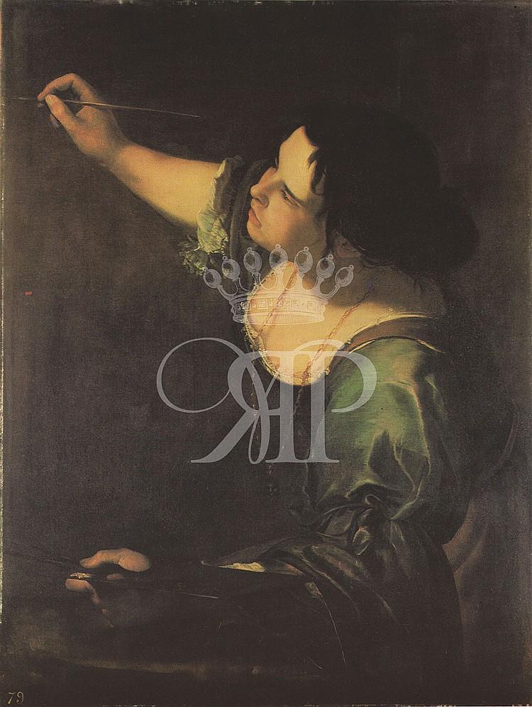 Artemisia Gentileschi Lithographic Print