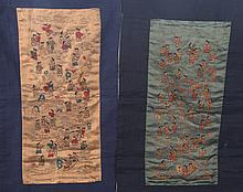 A PAIR OF CHINESE EMBROIDERY,