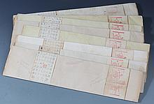 A GROUP OF SPRINKLE GOLD XUAN PAPER