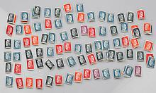 A LARGE GROUP OF 100 HITLER STAMPS