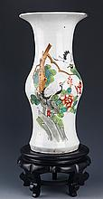 A TALL FINELY PAINTED PORCELAIN JAR