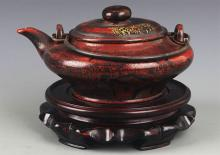 A FINE GIL, ZI SHA TEA POT