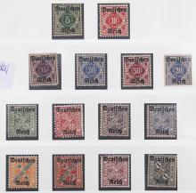 A GROUP OF 14 STAMPS