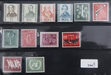 A GROUP OF 12 STAMPS