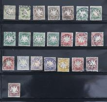 A GROUP OF 22 STAMPS
