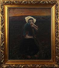A MA JIAN OIL PAINTING WITH FRAME