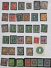A GROUP OF OLD AMERICAN STAMPS