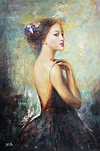 A ZHANG HAI OIL PAINTING