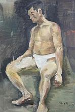 A LUO GONG LIU OIL PAINTING (ATTRIBUTED TO, 1916 - 2004)