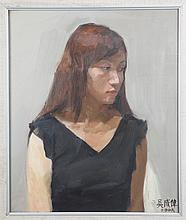 A WU CHENG WEI OIL PAINTING (ATTRIBUTED TO, 1973 - )