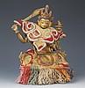 A FINELY CARVED BRONZE TIBETAN MANJUSRI BUDDHA