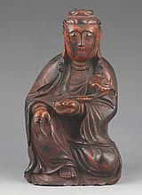 A FINELY CARVED BRONZE BUDDHA MODEL