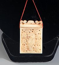 A FINE HOLLOW CARVING WHITE JADE BOX AND COVER