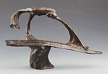 A GRIL PERFORMING BRONZE DECOREATION