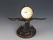 A EGALE SHAPE WESTERN STYLE BRONZE COLOCK
