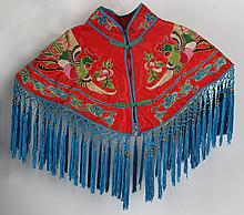 A FINELY EMBROIDE RED COLOR WOMEN CLOTH