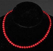 A CORAL NECKLACE (65 PCS)