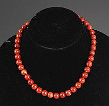 A CORAL NECKLACE (42 PCS)
