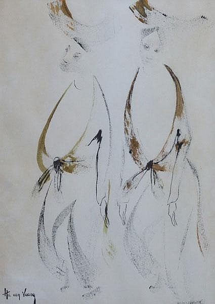 Ha Van Vuong (Chinese, born 1914), Two standing