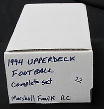 1994 Upper Deck Footaball Set with Faulk Rookie