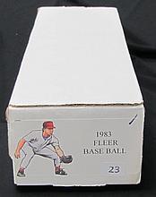 1983 Fleer Baseball Set Gwynn and Boggs Rookies