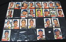 24 different 1953 Topps Baseball cards with stars