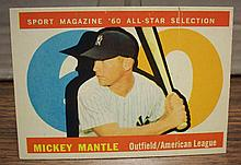 1960 topps #563 Mickey Mantle