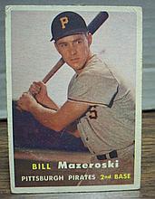 1957 topps #24 Bill Mazeroski