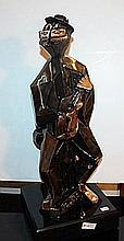 Man with Guitar - Bronze Sculpture by Picasso