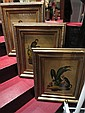 SET OF 3 MONKEY PAINTINGS ON BOARD, APPROX 24
