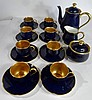19 PC OKURA JAPAN COBALT AND GOLDTEA SERVICE, 8 CUPS, 8 SAUCERS, TEAPOT, CREAMER, SUGAR, SKU7496.87