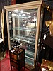 PULASKI LIGHTED CABINET, MIRRORED BACK, GLASS SHELVES, WHITE FINISH, #2 OF TWO AVAILABLE, EACH CABINET SOLD SEPARATELY, APPROX 6.5' X 5' X 14