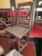 18TH CENTURY FRENCH CHAIR, OPEN PICTURE FRAME BACK, PLANK SEAT, VERY GOOD CONDITION
