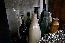 Various Victorian bottles from diving & stoneware