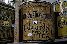 Large Australia Edwards Ensign tea tin