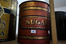 Large antique Sugar tin