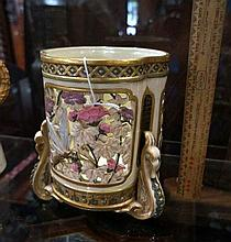 Unusual Royal Worcester pierced jardiniere