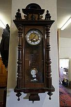 Victorian walnut Vienna wall clock