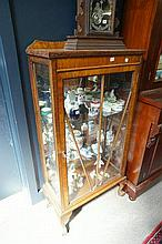 1920's Chippendale walnut single door display