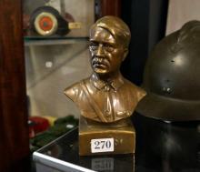 Brass bust of Adolf Hitler